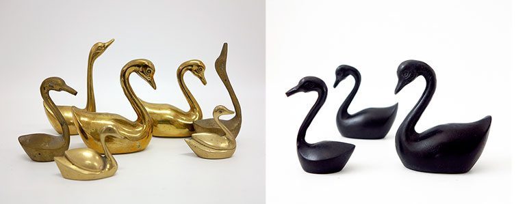 Swans-brass-and-black