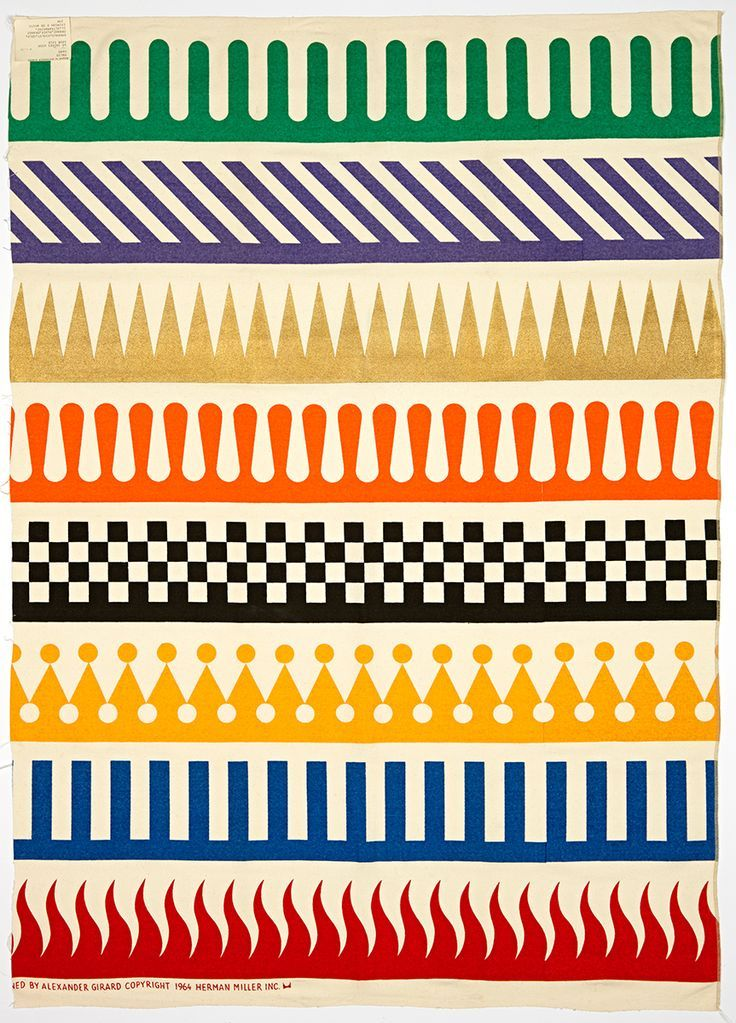 A Girard pattern for Herman Miller, 1964.