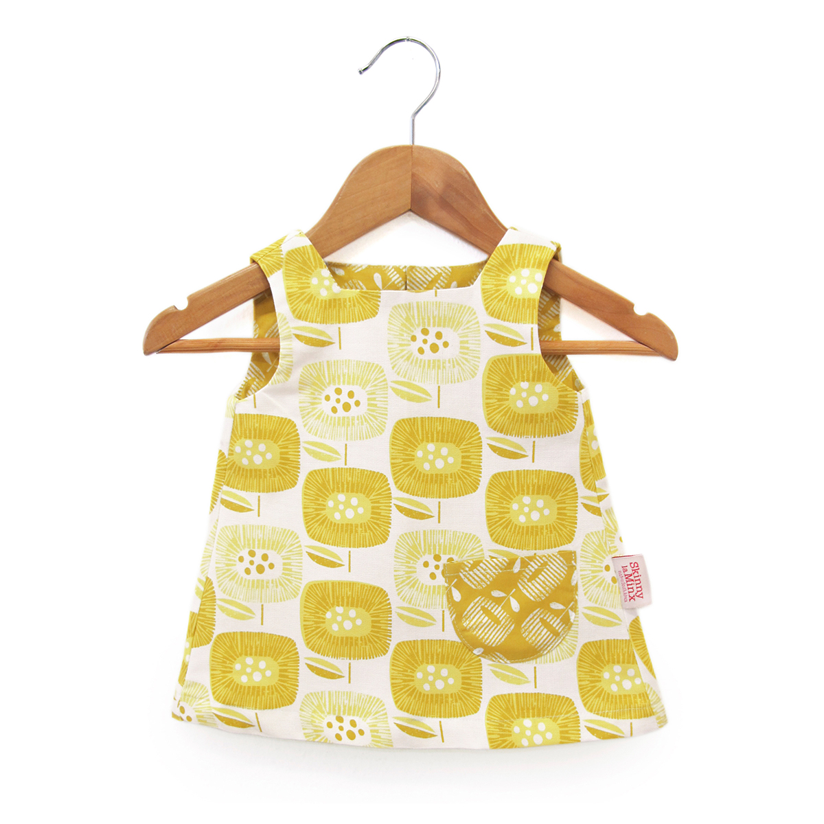 Skinny Laminx Smock Dress Bloom Block Yellow