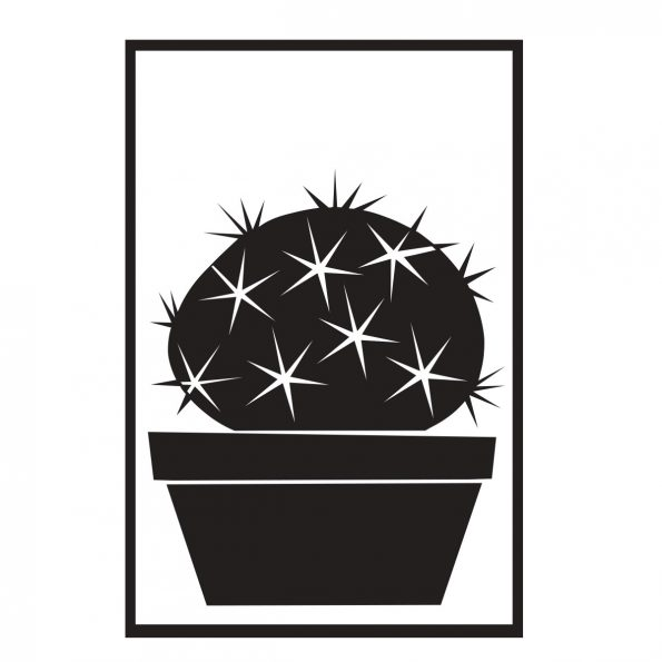 Skinny Laminx Succulent Decal Barrel Cactus