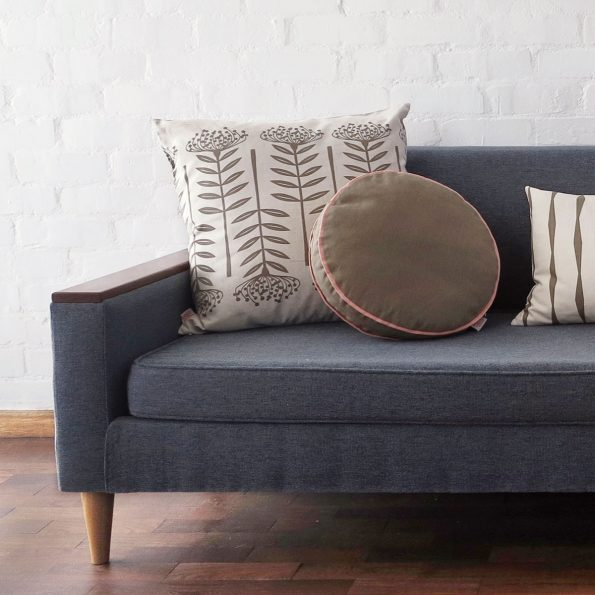 Skinny laMinx Colour Pop Pillow Round Cocoa and Shell Styled