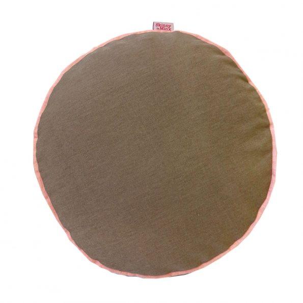 Skinny laMinx Colour Pop Pillows Round Cocoa Shell