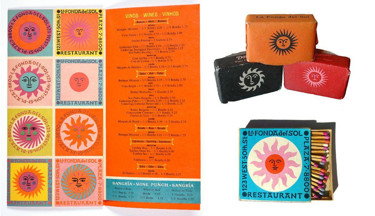 la Fonda menu SF MOMA cubes matches