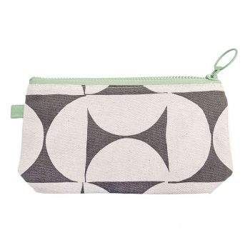 Skinny laMinx Stash Bag Breeze Concrete with Spruce zips